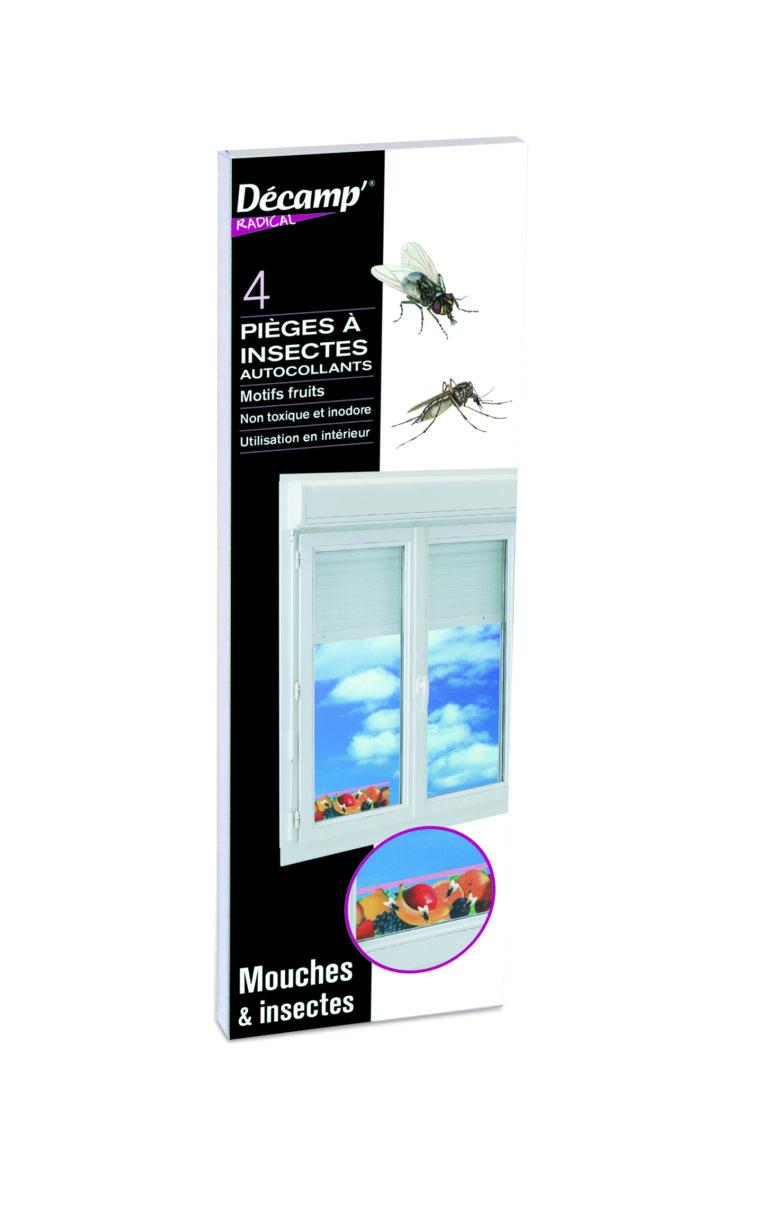 Pièges autocollants à motifs pour attraper mouches et autres insectes
