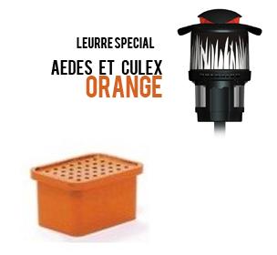 Leurre moustiques orange