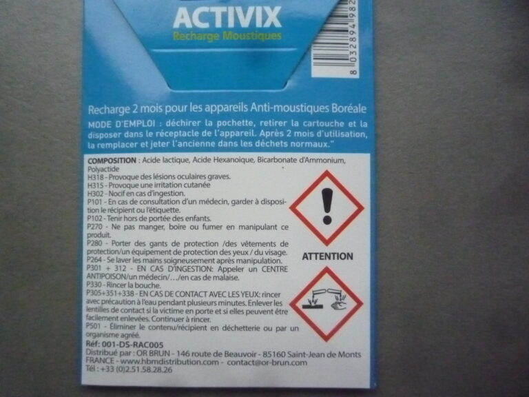 Activix recharge pour Boréale 2