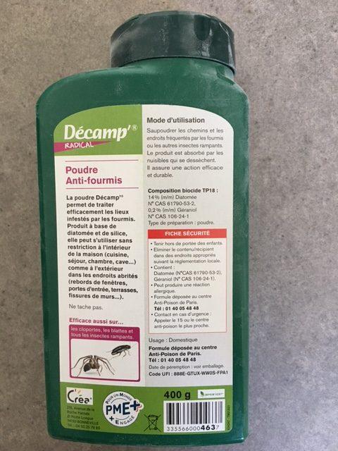 poudre anti fourmis